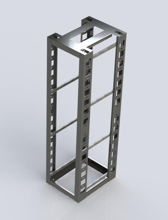 4 Post Relay Rack Seismic Electron Metal