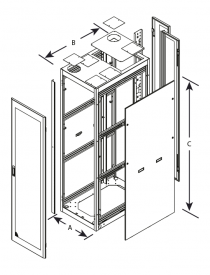 Series 4000 Server Cabinets - Technical Drawing