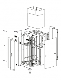 Series 4000 – Side Venting - Technical Drawing