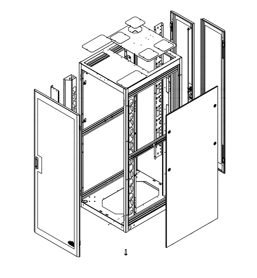 Series 4000 Network Cabinets - Technical Drawing